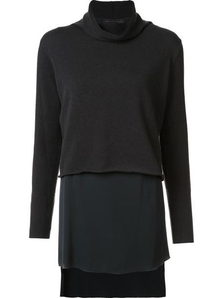 Fabiana Filippi jumper metallic women layered grey sweater
