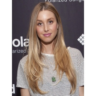 t-shirt black and white whitney port