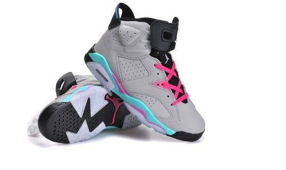 grey shoes pink retro jordans jordans light blue