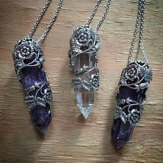 jewels necklace crystal quartz crystal jewelry