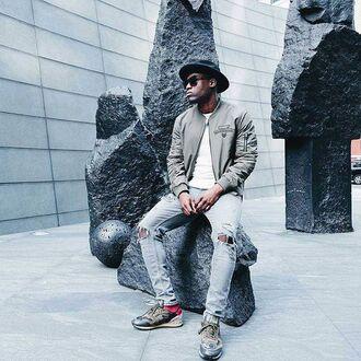 jacket maniére de voir khaki bomber jacket menswear fashion trendy style casual streetstyle kanye west zayn malik 36683