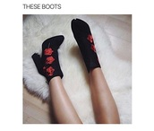 shoes,heels,roses,black,red