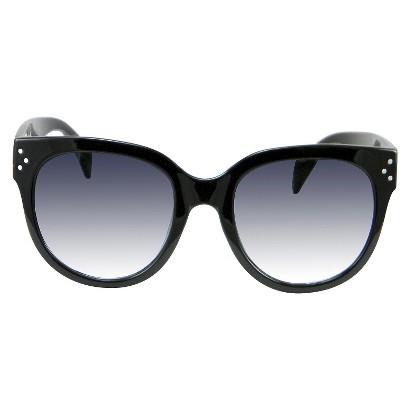 Women's Round Sunglasses - Black