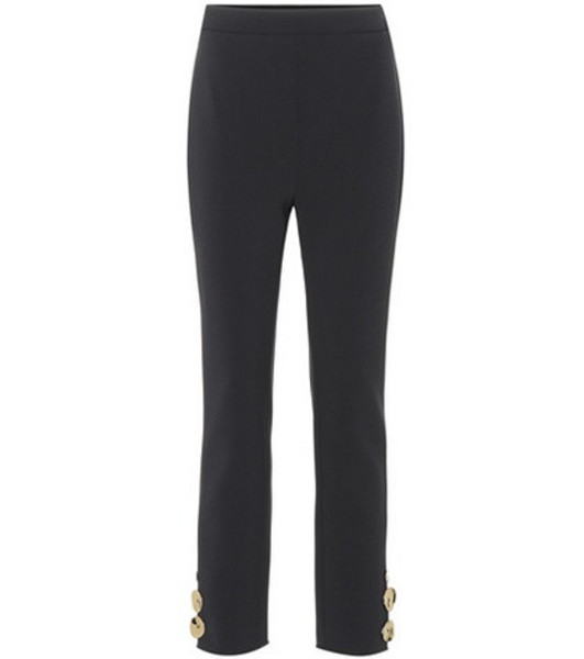 Ellery Cropped high-rise straight pants in black