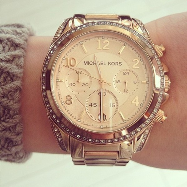 jewels michael kors watch jewerly watch gold watch michael kors watch fashion michael cors rose gold gold watch gold diamonds