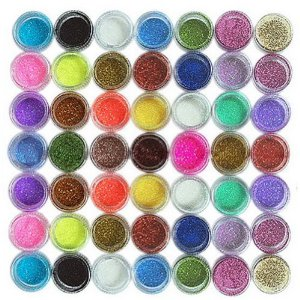 Amazon.com : 45pc nail art glitter powder dust tips decoration : nail treatment products : beauty