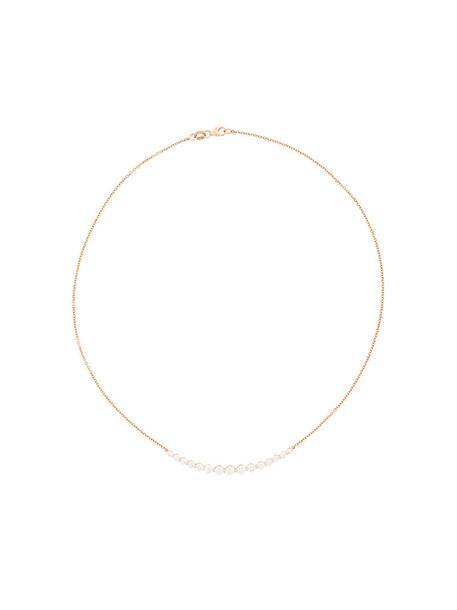 Anita Ko rose gold rose women necklace gold grey metallic jewels