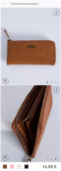 camel bag bag wallet purse brown bershka passport
