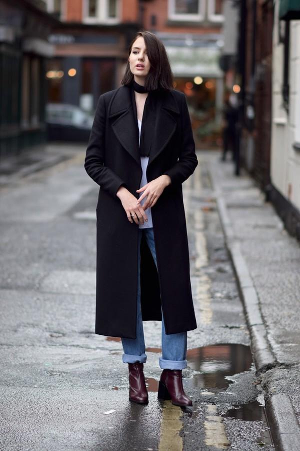 Long Black Coat Womens