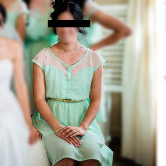 mint dress bridesmaid