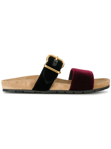 women sandals leather velvet red shoes