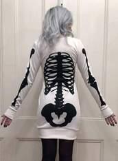 dress,pastel goth,skeleton,gothic dress