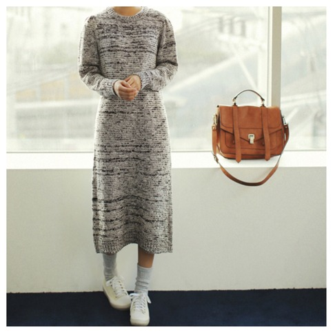Cute long sleeve knit dress from doublelw on storenvy