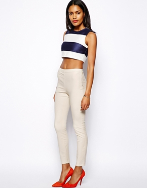 River Island | River Island High Waist Capri Trouser at ASOS