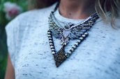 jewels,eagle,statement necklace,animal,beaded,birds,jowels