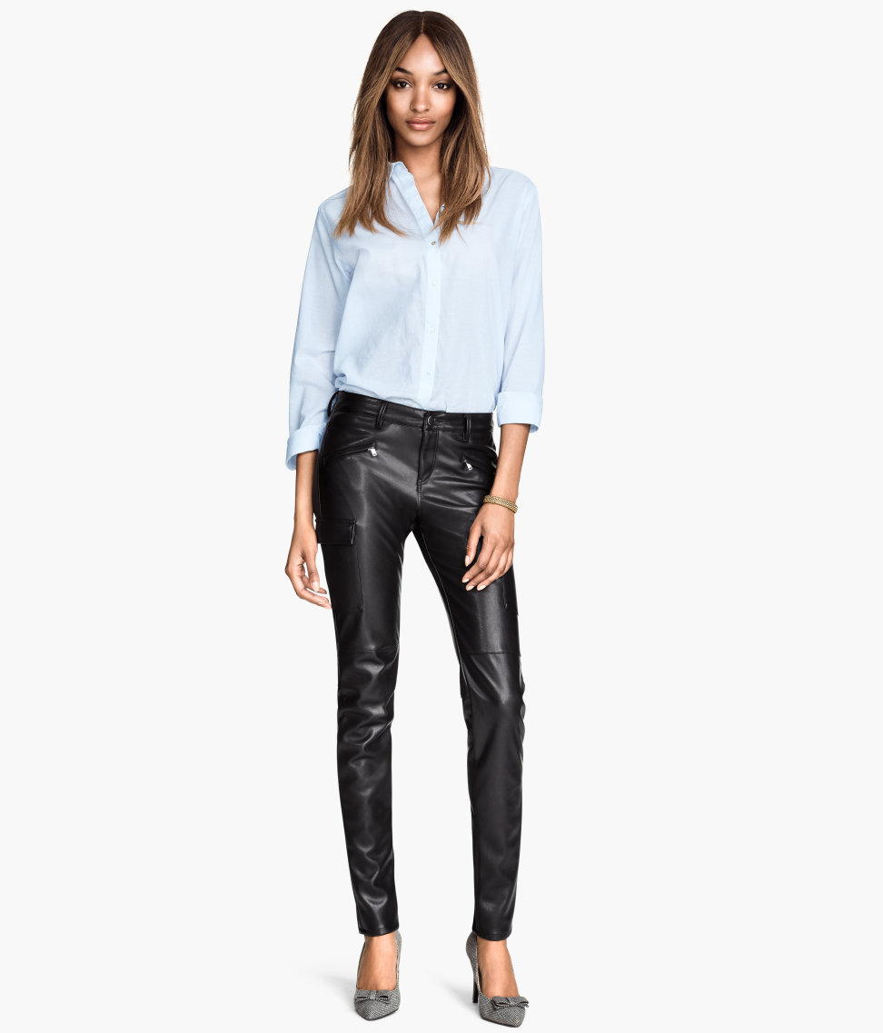 H&M Imitation leather trousers £29.99
