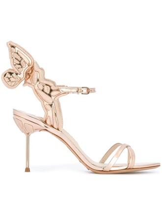 heel sandals metallic shoes