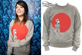 sweater gorillaz noodles jazz punk rock grunge japan punk/grunge/raver