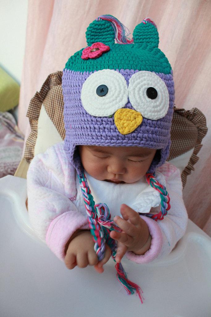 Baby Green Crochet Sweet Crochet Owl Hatanimal Baby Girl Hatcotton