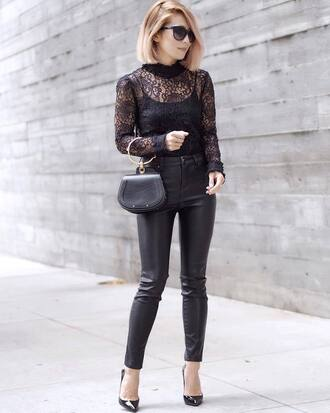 shoes black shoes pants black pants handbag black handbag top black top bag