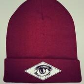 hat,eye,art,red beanie,red,artist,beanie,streetstyle,hipster,skater,drawings