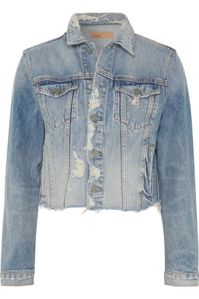 GRLFRND jacket denim jacket denim light