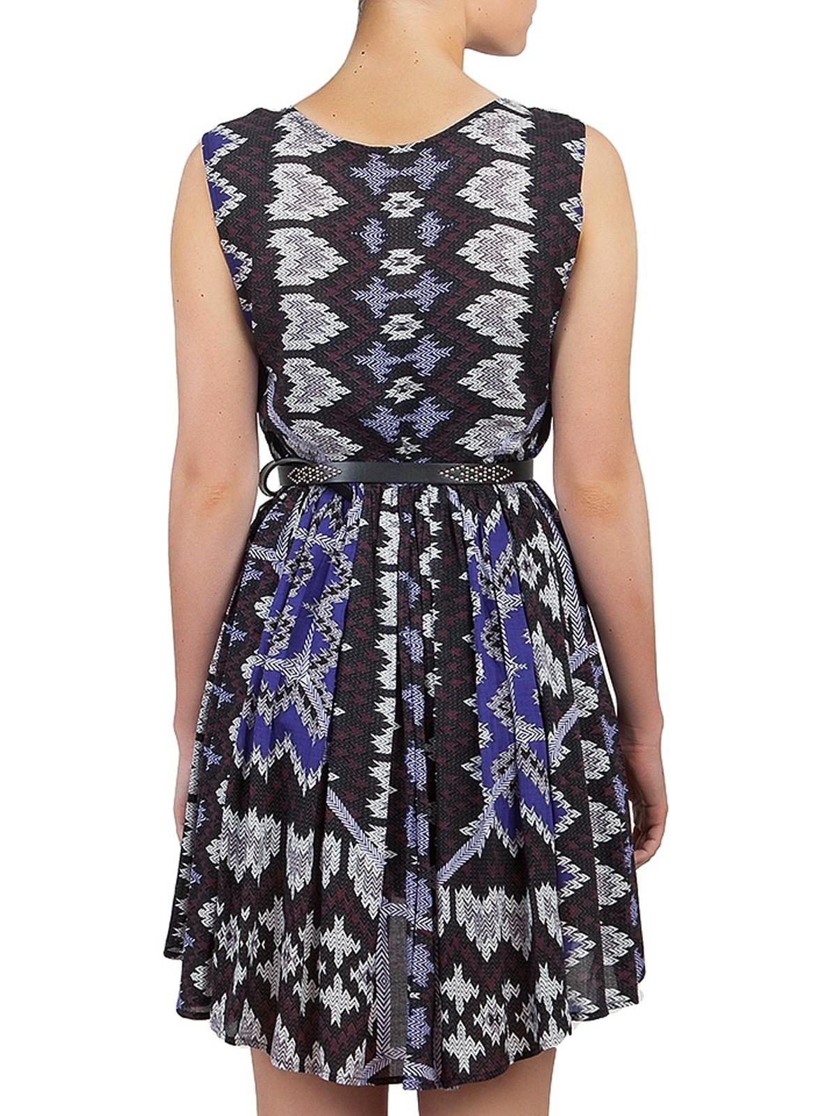 Free People | Take Me To Thailand Back and Blue Ikat Dress | GIRISSIMA.COM