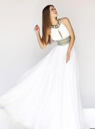 dress white beaded dress