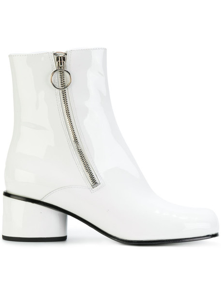 Marc Jacobs women boots ankle boots leather white shoes