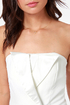 Luxe Tux Strapless Ivory Romper