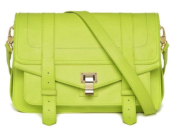 PS1 Fluorescent Green Satchel – Glamzelle