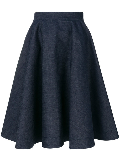 CALVIN KLEIN 205W39NYC skirt denim skirt denim women cotton blue