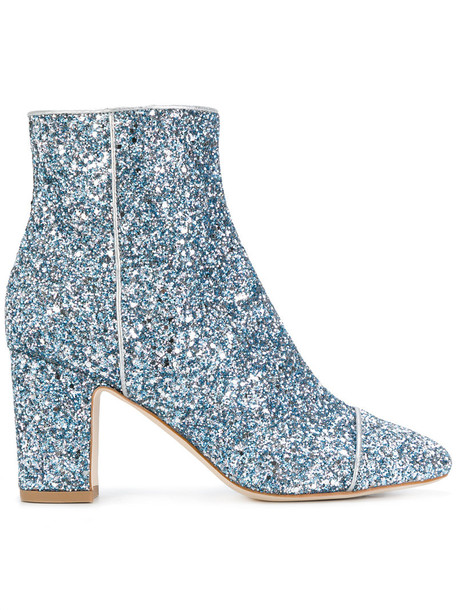 Polly Plume women boots leather blue shoes