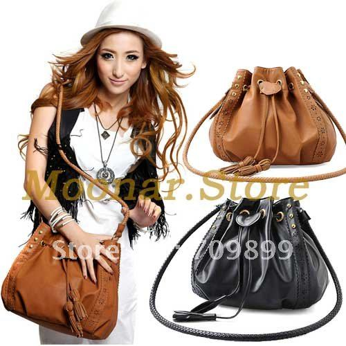 Sweet Cute design Bohemian style Tassels Lady Hobo PU Leather Handbag Shoulder Bag sweet B038-in Shoulder Bags from Luggage & Bags on Aliexpress.com