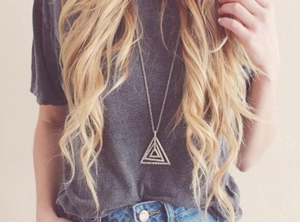 jewels necklace triangle jewelry