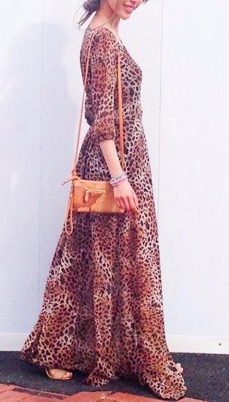 dress leopard print maxi dress