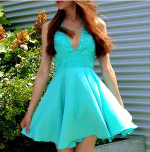 dress mint dress crochet dress lace dress blue dress summer dress ici fashion