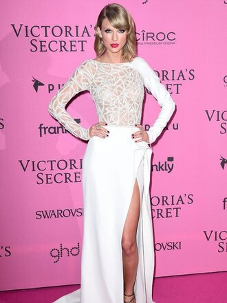 dress taylor swift victoria's secret slit dress
