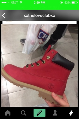 shoes red shoes boots timberlands boots