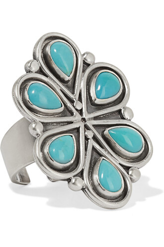 ring silver turquoise jewels