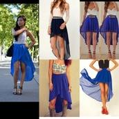 skirt,blue skirt,hi low skirt,hi lo skirt,high low skirt,blue hi low skirt,fashion,shirt