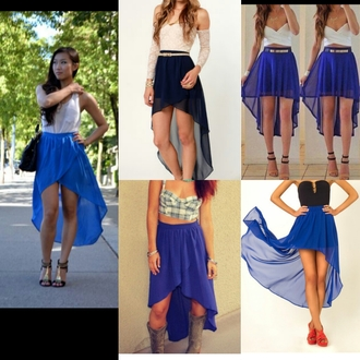 skirt blue skirt hi low skirt hi lo skirt high low skirt blue hi low skirt fashion