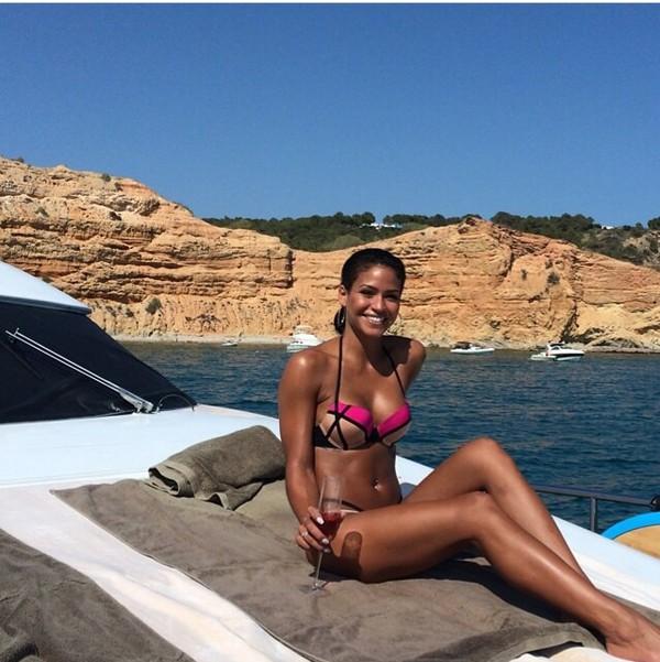 swimwear bikini cassie ventura pink nude