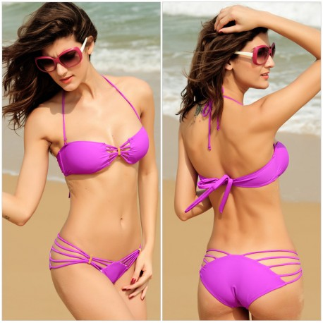 Purple Beach Yummy Bikini Set Top and Bottom lml5008A - lol-malls - Trustful Online Shopping for Women Dresses
