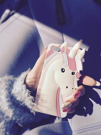 phone cover unicorn purple rosa