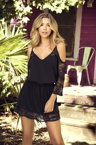 dress lace dress black dress boho dress