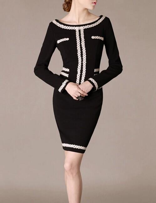 Black O-neck Lace Elegant Noble Summer OL Slim Women Fashion Dress lml7102 - ott-123 - Global Online Shopping for Dresses