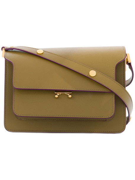 women bag shoulder bag leather green