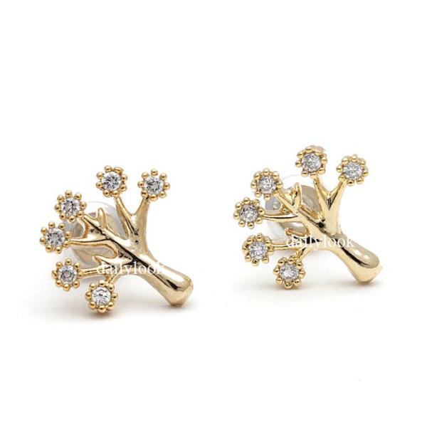 jewels tree tree earrings autumn jewelry autumn earrings leaf earrings leaves earrings woman earrings unique earrings simple earrings