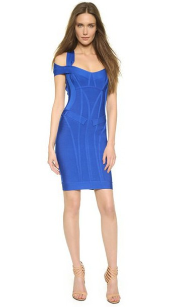 Herve Leger Lilliana Dress - Bright Blue